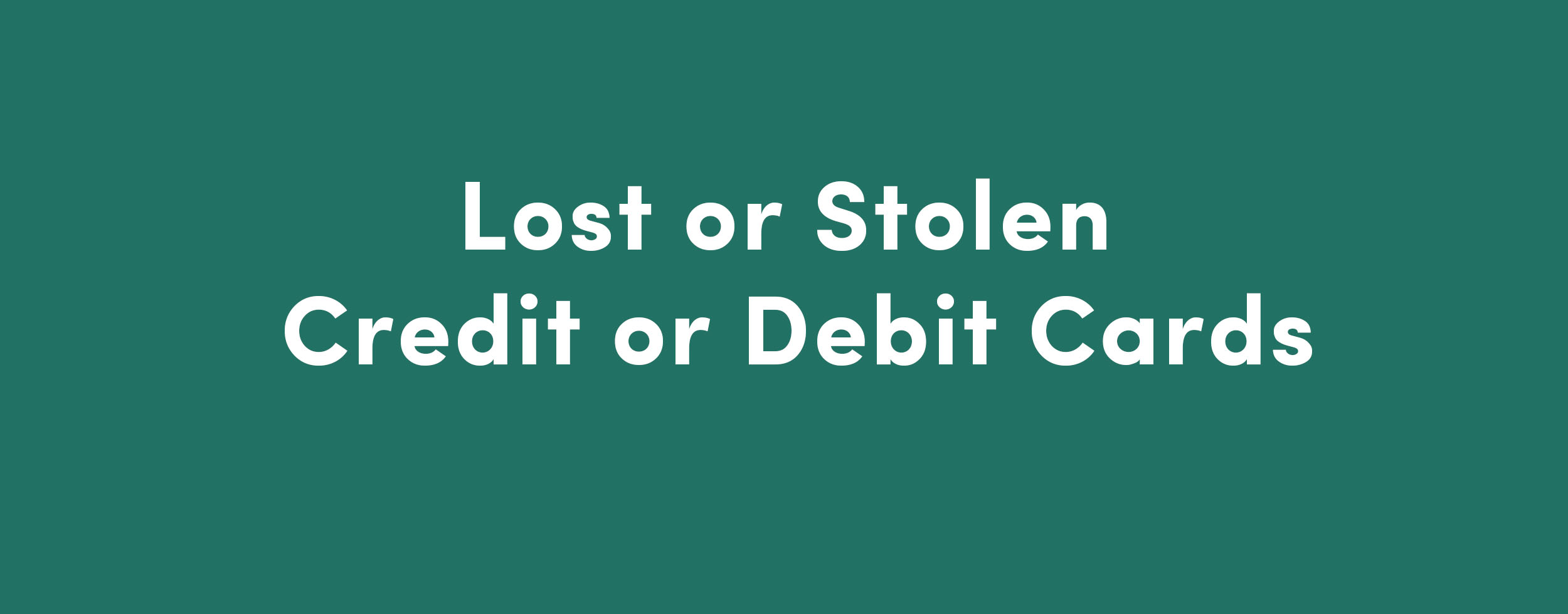 Lost or Stolen Cards | American Partners Federal Credit Union